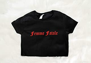 Femme Fatale Graphic Print Women's Crop S M L Xl Xxl 3Xl T-Shirt, Pullover Hoodie For men & women.