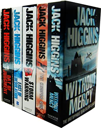 Jack Higgins 5 Books Collection Pack Set RRP: £34.95 (Day of Judgment, East of Desolation, Storm Warnin, Khufra Run, The, Without Mercy)