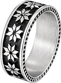 8MM Stainless Steel Black Band Rings for Women Men Size 7 8 9 10 11 12