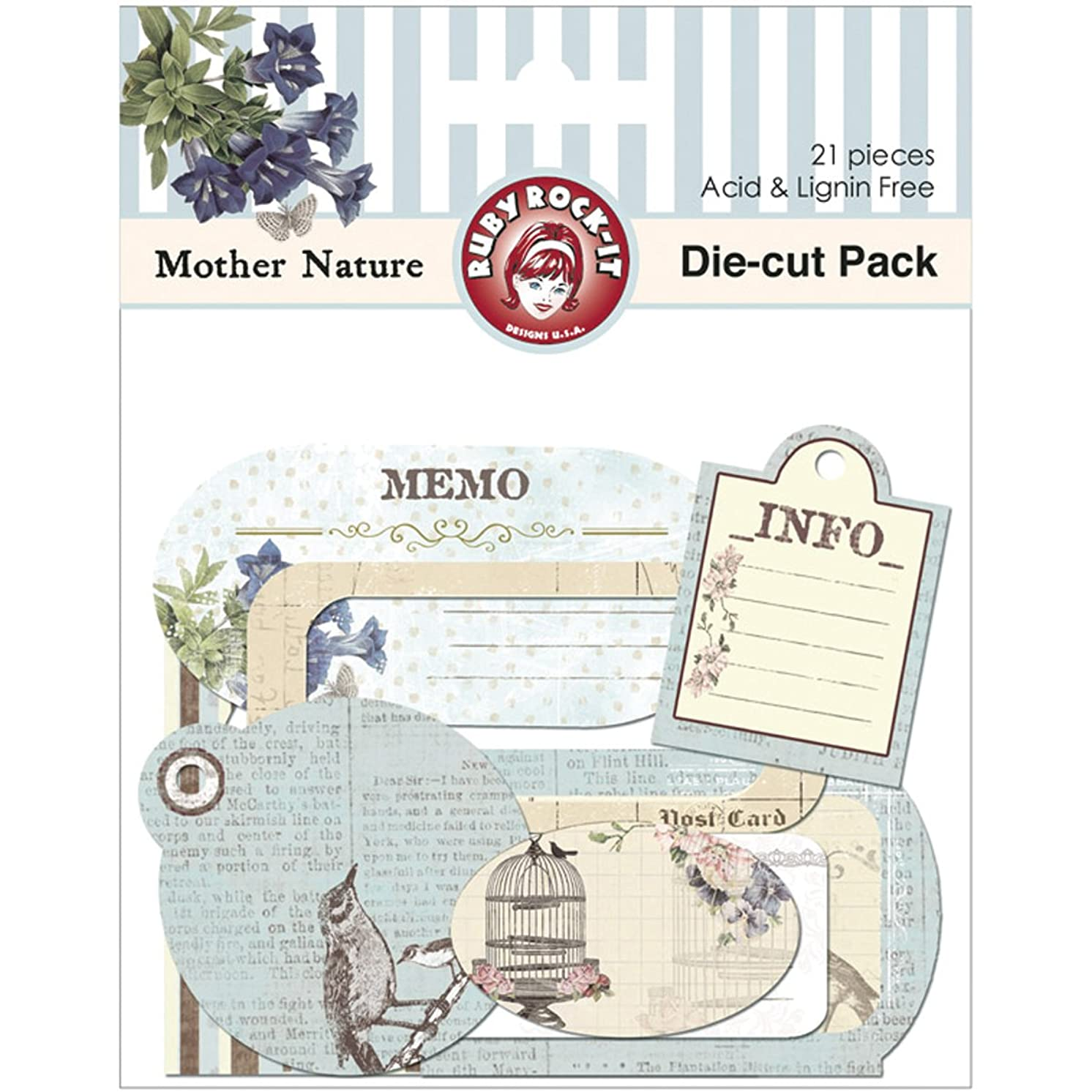 Mother Nature Cardstock Die-Cuts 21/Pkg-