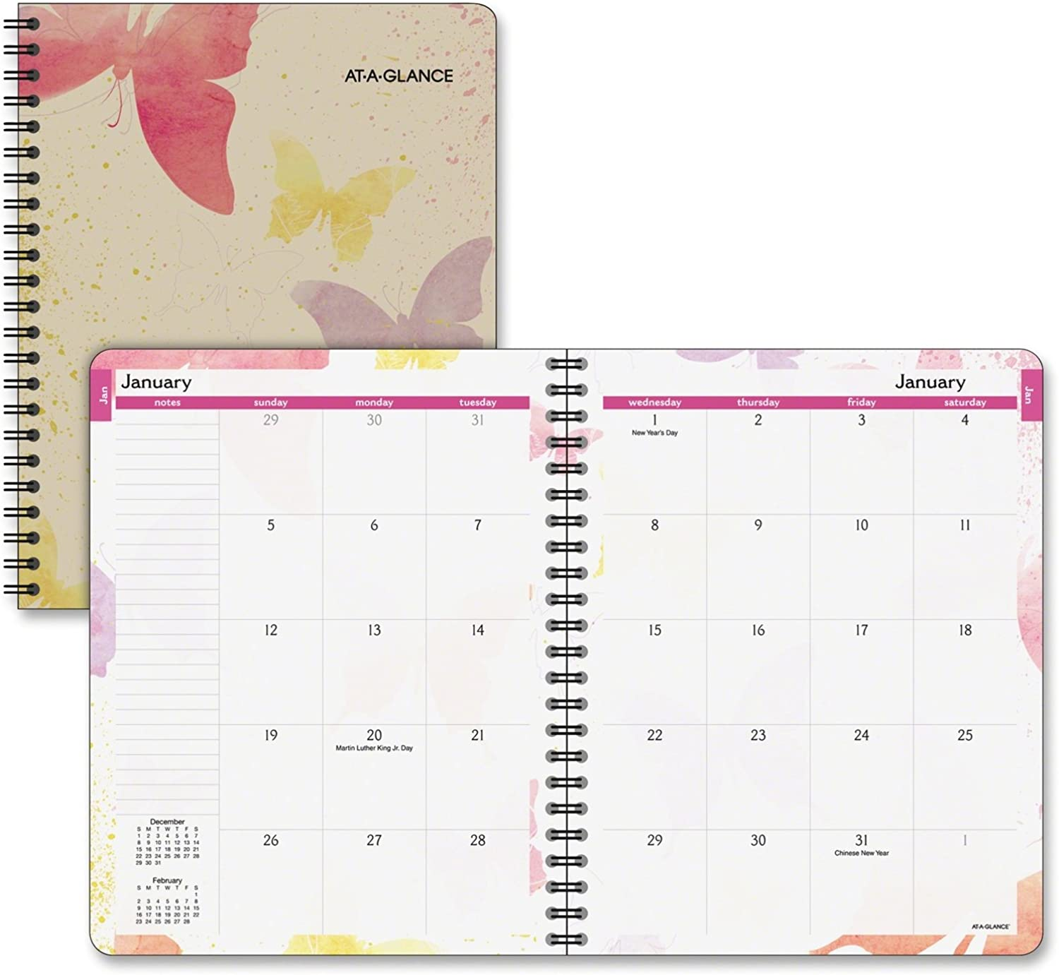 AT-A-GLANCE Monthly Planner 2017, WaterFarbes, 6-7 8 x 8-3 4 Inches (791-800G) by At-A-Glance B00WWVQLGM   Moderate Kosten