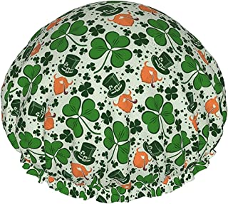 Lucky Shamrock wodoodporna czapka prysznicowa z elastycznym obszyciem odwracalna konstrukcja do prysznica czapka do spania...