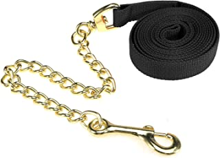 Festnight 8.5ft Lunge Line Horse Leash Halter with Chain Pet Dog Obedience Recall Training Lead