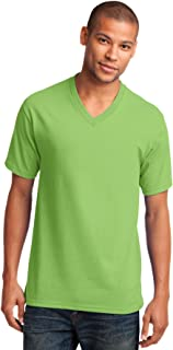 lime green v neck shirt