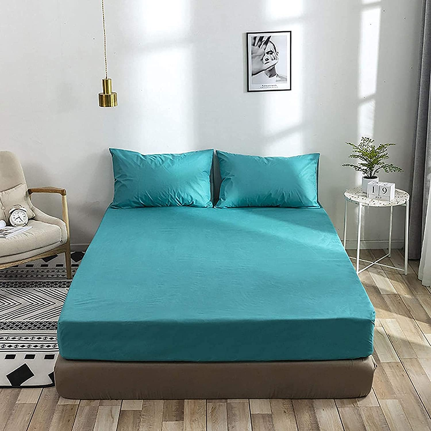 Challenge the lowest price WHCQ Quantity limited Mattress Cover Full Polyester Protector 100% Lig