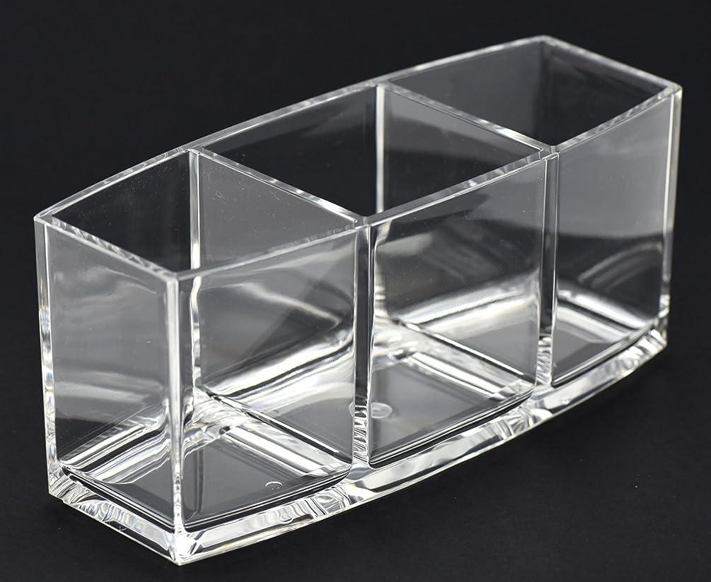 動かないアピール無視FiveSeasonStuff 化粧収納ボックス メイクケース 透明アクリル 収納メイク 大容量 文房具 多機能 便利 3グリッド 小物入れ