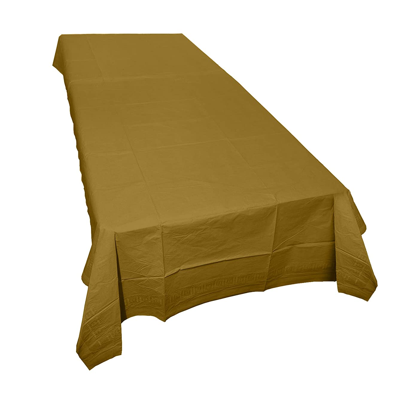 SparkSettings Disposable Table Cover Absorbent Classy Paper Table Cover Picnic Party Graduation Table Covers Perfect for Casual or Elegant Events - Gold,