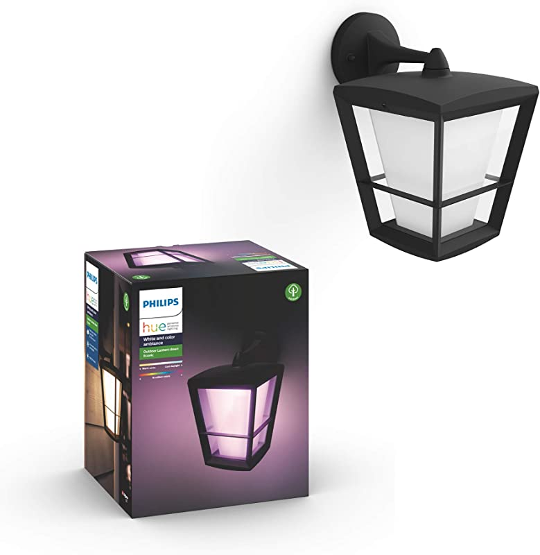 Philips Hue 1744030V7 White Color Ambiance Econic Wall Down Lantern Black