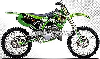 Kungfu Graphics Custom Decal Kit for Kawasaki KX125 KX250 1999 2000 2001 2002, Green