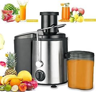 mewmewcat Extracteur de Jus,800W Centrifugeuse Fruits et Legumes,2 Vitesses 65MM Large Bouche en Acier INOX, Antidérapant...