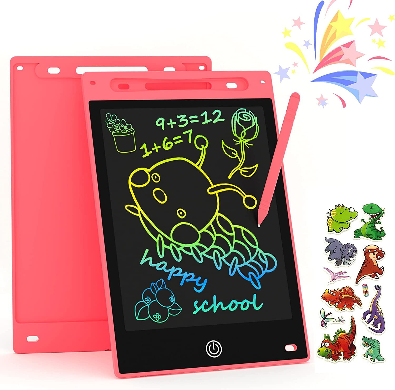 LARISO Toys for 3-6 Years Old Girls Boys, LCD Writing Tablet 10 Inch Doodle Board, Electronic Drawing Tablet Drawing Pads, Educational Birthday Gift for 3 4 5 6 7 8 Years Old Kids Toddler (Pink)