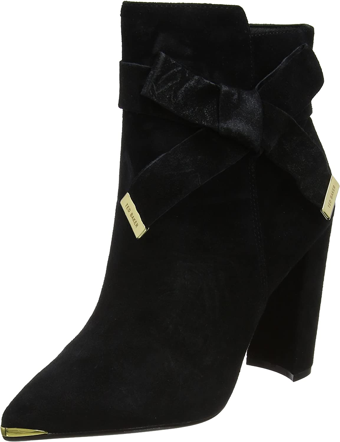 Ted Baker Women's Sailly Suede Zip Up Ankle Boot Black