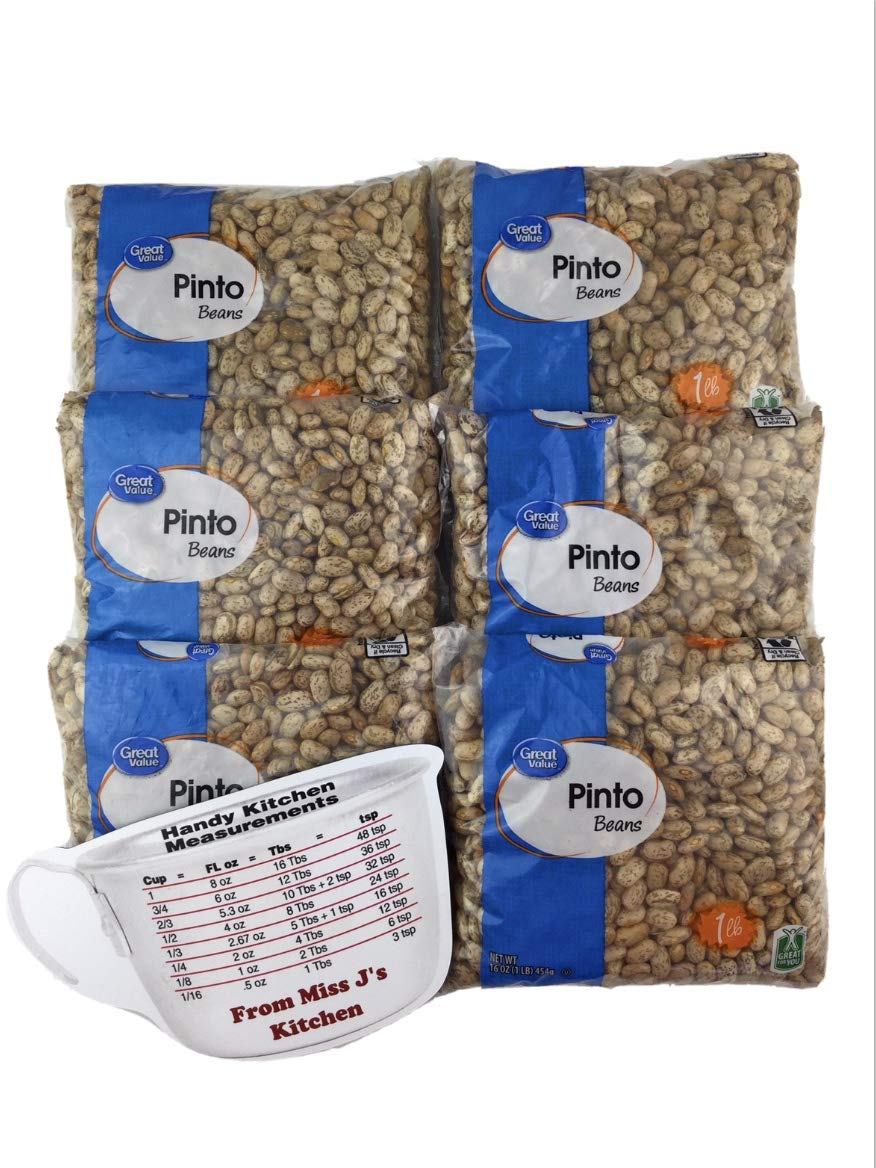 Great Value Dry Pinto Beans 6 Bags lb J' 1 Miss with trend Dealing full price reduction rank Each