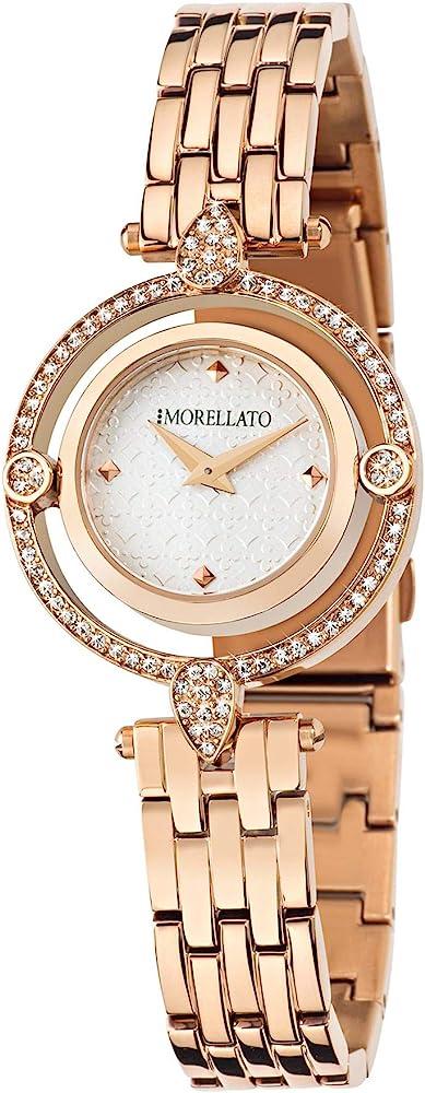 Orologio da donna,morellato,in acciaio e pvd oro rosa,con cristalli R0153121504