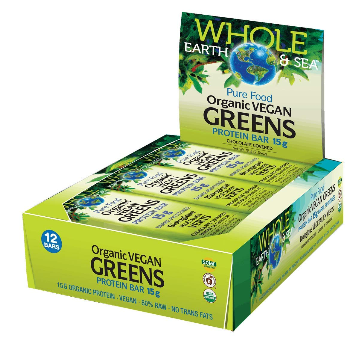 Organic Vegan Greens 2021 autumn and winter new Protein Bar Covered 12 Bars Wholesale Chocolate