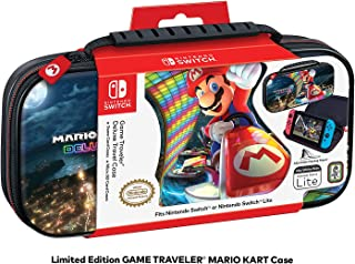 Nintendo Switch Mario Kart 8 Deluxe Carrying Case – Protective Deluxe Travel Case – PU Leather Exterior – Official Nintend...