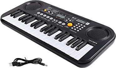 M SANMERSEN Piano for Kids, 37 Keys Kids Piano LCD Display / Double Speakers Musical Piano for Kids with Piano Score Electronic Piano Educational Piano Toys Gift for 3-12 Years Boys Girls
