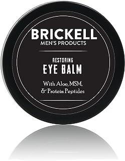 Brickell Men's Restoring Eye Cream for Men, Natural & Organic Anti Aging Eye Balm To Reduce Puffiness, Wrinkles, Dark Circles, & Under Eye Bags - .5 oz