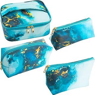 SUBANG 4 Pack Marble Makeup Bag Toiletry Bag Travel Bag Portable Cosmetic Bag Makeup Brushes Bag Waterproof Organizer Bag ...