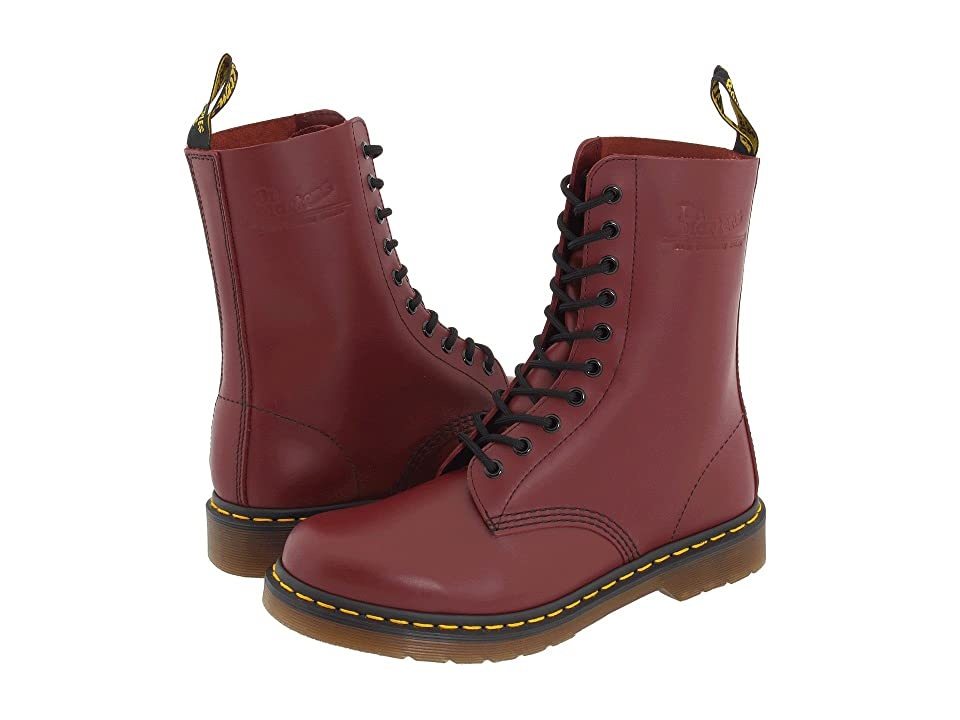 Dr. Martens 1490 (Cherry Red Smooth) Lace-up Boots
