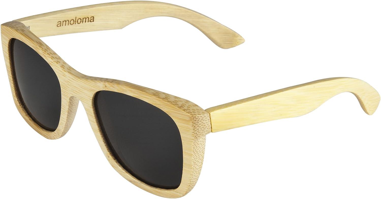 Bamboo wood sunglasses  wayfarer design