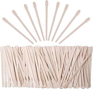 Senkary 600 Pieces Wooden Waxing Sticks Small Wax Sticks Wax Applicator Sticks Wood Wax Spatulas Sticks for Hair Eyebrow Nose Removal (With Handle)