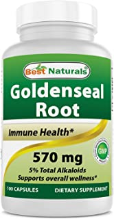 Best Naturals Goldenseal Root 570 mg (Non-GMO) 100 Capsules