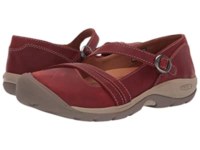 Keen Presidio II Cross Strap (Fired Brick/Brindle) Women