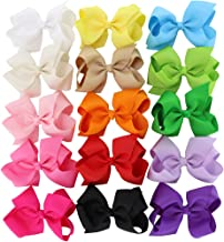 3 in 4.5in 6in Hair Bows For Girls Grosgrain Ribbon Large Butique Bow Clip Teens Toddlers Kids Children
