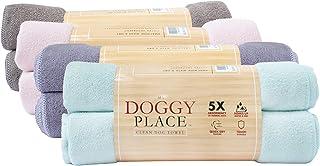 حوله خشک کن My Doggy Place Pet Dog Cat Microfiber XL 45x28 اینچ ، فوق العاده جاذب برای استحمام و نظافت (قهوه ای ، بلغور جو دوسر ، زغال چوب ، خاکستری روشن ، گل مایل به سبز ، سبز مریم گلی ، زغال چوب راه راه با چاپ پنجه)