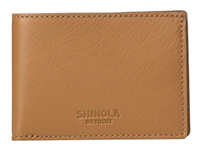 Shinola Detroit Super Slim Bifold (Cognac) Wallet Handbags