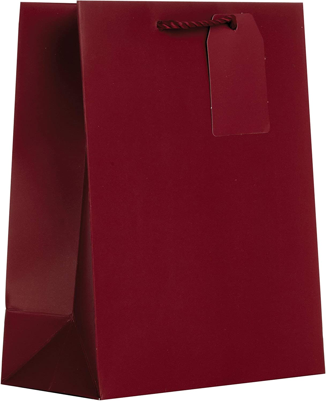 Time sale Jillson Roberts Omaha Mall Medium Gift Bags 60 Burgundy Pcs Matte
