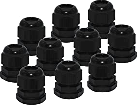 Cable Glands, ZKSM 10 Pcs IP68 Waterproof 6-12mm Cable Connectors Adjustable Plastic Cable Gland Joints with Gaskets, M20x1.5