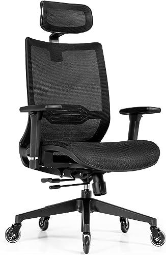 wholesale Giantex lowest Ergonomic Mesh Office Chair, Reclining Swivel Task Chair w/ 3D Armrest, Adjustable popular Lumbar Support, Headrest, Modern Rolling Executive Chair, High Back Computer Desk Chair (Black) outlet sale