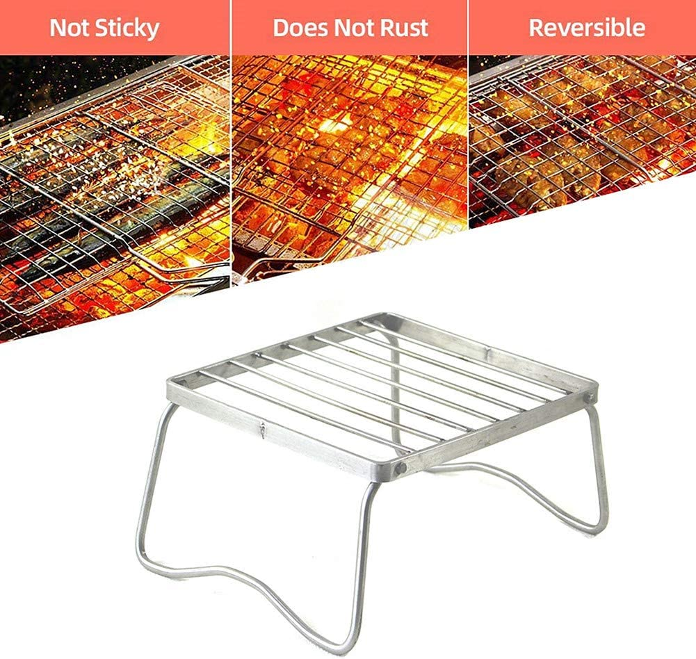 qishengshengwukeji Grille Barbecue Grille De Barbecue Barbecue Grill Racks Barbecue Grill Maille Tapis Barbecue Grillades Non-Bâton Barbecue Grill Maille Tapis L S