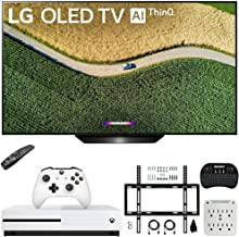 """$1549 » LG OLED55B9PUA B9 55"""" 4K HDR Smart OLED TV with AI ThinQ (2019) Bundle with Microsoft Xbox One S 1TB Console, Flat Wall Mount Kit, Wireless Keyboard, and 6-Outlet Surge Adapter with Night Light"""