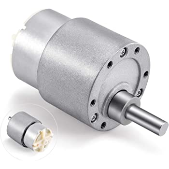 Greartisan DC 12V 200RPM Gear Motor High Torque Electric Micro Speed Reduction Geared Motor Eccentric Output Shaft 37mm Diameter Gearbox