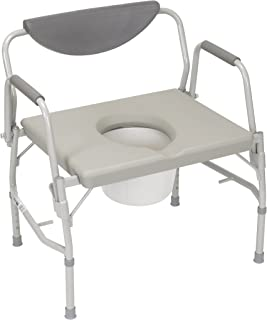 Bariatric Deluxe Drop-Arm Commode
