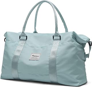 Travel Duffel Bag,Sports Tote Gym Bag,Shoulder Weekender Overnight Bag For Women with Wet Pocket and Trolley Sleeve