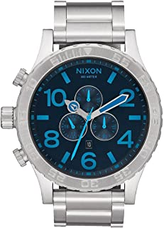 Nixon Mens The 51-30 Chrono Watch - Silver/Dark Blue