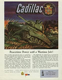 Peacetime Power with a Wartime Job! Cadillac M-24 Tank ad 1945 USN