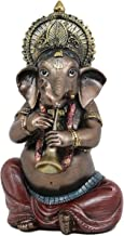 "Ebros Celebration of Life and Arts Lord Ganesha Playing Musical Instruments Statue 6.75"" Tall Hindu Elephant God Deity Remover of Obstacles Figurine Vastu Hinduism Collectible Decor (Shehnai Flute)"