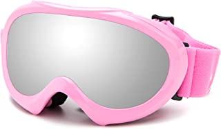 Cloud 9 - Professional Kids Girls & Toddlers Ski Goggles Anti-Fog Dual Lens UV400 Protection Triple Layered Foam Snowboarding Snow Goggles Pink