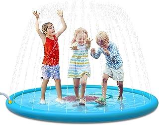 """Jasonwell Sprinkle & Splash Play Mat 68"""" Sprinkler for Kids Outdoor Water Toys.."""