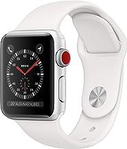 AppleWatchSeries3 (GPS+Cellular) concaja de 38mm de aluminio enplata ycorrea deportiva - Blanca