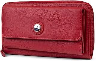Bulk Cargo Womens RFID Wallet Clutch Zip Around Organizer (Fuego Red)