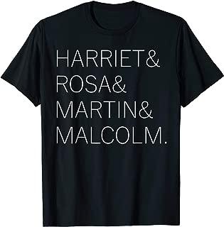 Harriet Rosa Martin Malcolm Black History T-Shirt