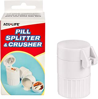 Acu-Life Pill Splitter/Tablet Cutter and Crusher Combo with Built in Medication Storage