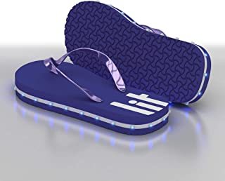 LITFLIP Kids LED Lighted Flip-Flop Sandals with Double USB Recharging Cable