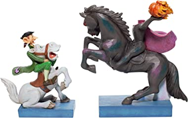 Enesco Jim Shore Disney Traditions Legend of The Sleepy Hollow Headless Horseman and Ichabod Crane Figurine Set, 7.09 Inch, M